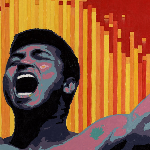 Canvas Art Print of Muhammad Ali portrait on Blck Prism. Buy Black Art Online.
