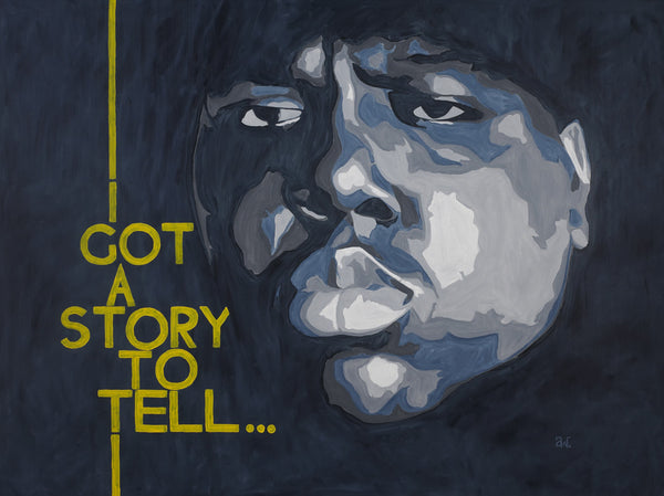 "Notorious BIG ""I Got a Story to Tell"" Canvas Print"