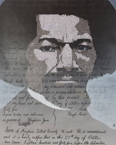 """Double Exposure"" - Frederick Douglass Canvas Print"