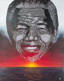 Canvas Art Print of Nelson Mandela portrait on Blck Prism. Buy Black Art Online.