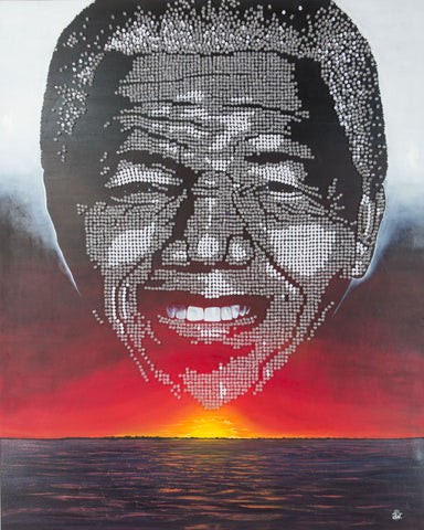 """Double Exposure"" - Mandela Canvas Print"