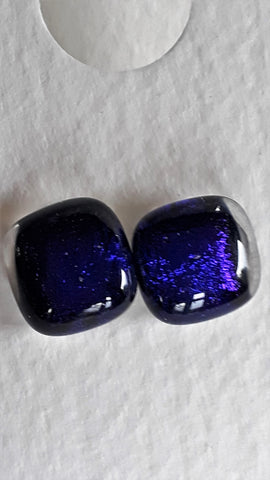 Dichroic Earrings - studs #7