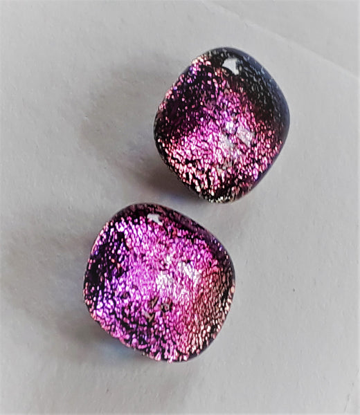 Dichroic Stud Earrings #168