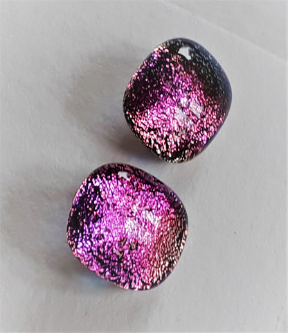 Dichroic Earrings - studs #9