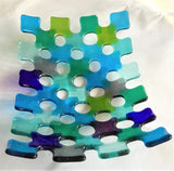 Blue Lattice Dish