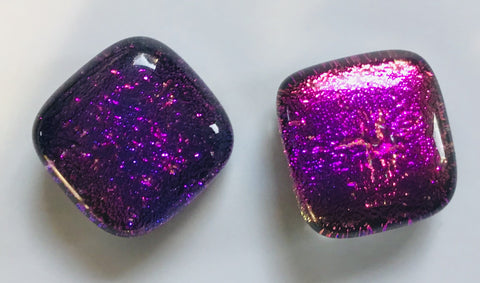 Dichroic Stud Earrings #128