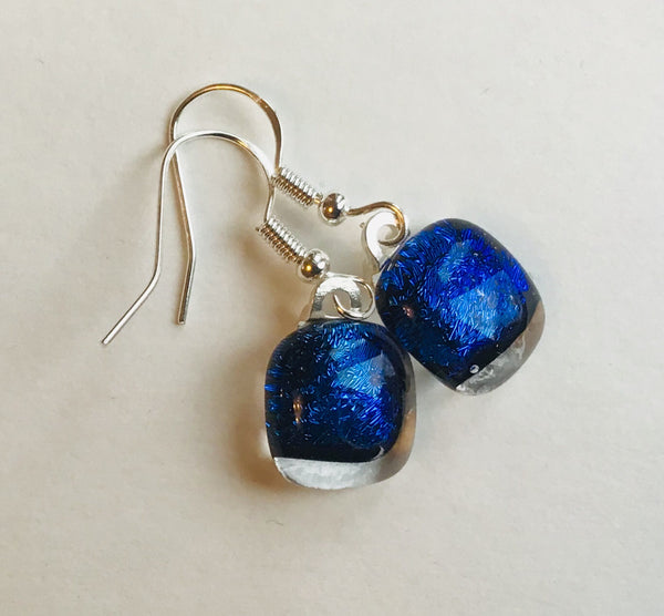 Dichroic drop earrings #120