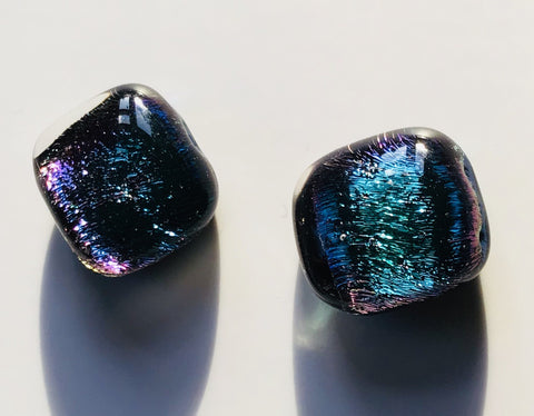 Dichroic Stud Earrings #30