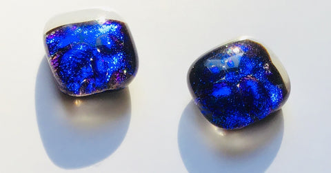 Dichroic Stud Earrings #22