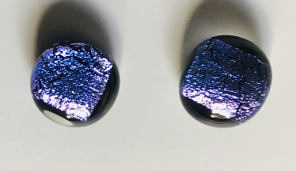 Dichroic Stud Earrings #90