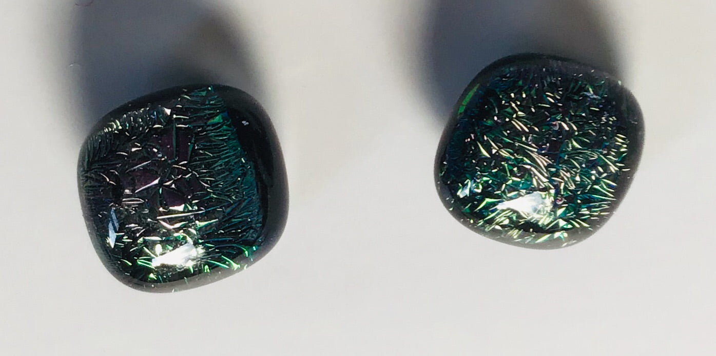 Dichroic Stud Earrings #146