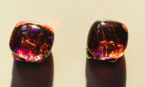 Dichroic Stud Earrings #29