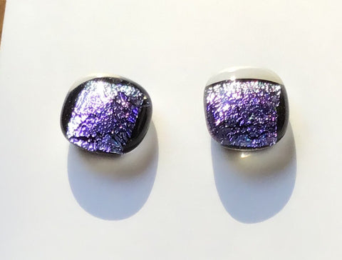 Dichroic Stud Earrings #34