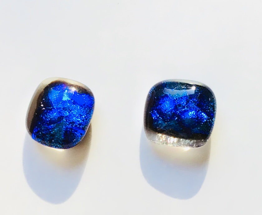 Dichroic Stud Earrings #99
