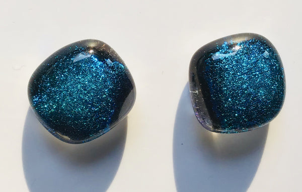 Dichroic Stud Earrings #127