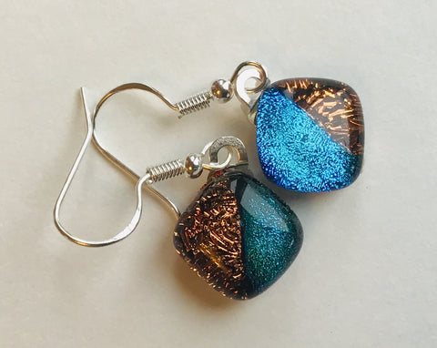 Dichroic drop earrings #140
