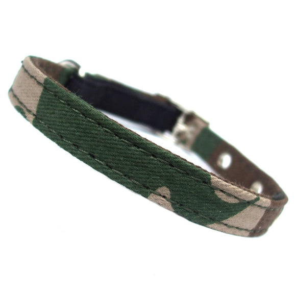 Cat Collars Army Camo Canvas Cat Collar - Prince & Princess Designer Petwear