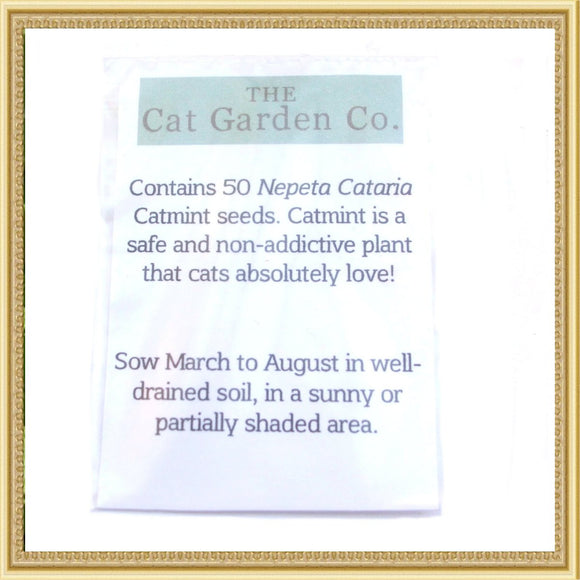Cat Plants Nepeta Cataria - Catnip Seeds - Prince & Princess Designer Petwear