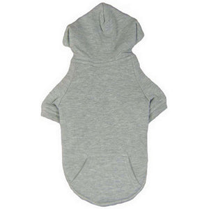 Cat Clothes NEW SIZES Cat Hoody - Grey - Prince & Princess Designer Petwear