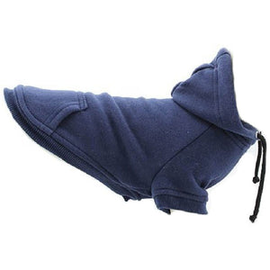Cat Clothes Cat Sweatshirt Hoody Navy Blue - Prince & Princess Designer Petwear