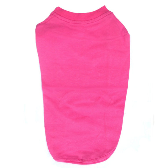 Cat Clothes Cat T-shirt - Deep Pink - Prince & Princess Designer Petwear