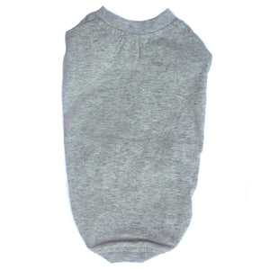 Cat Clothes Cat T-Shirt - Grey Marl - Prince & Princess Designer Petwear