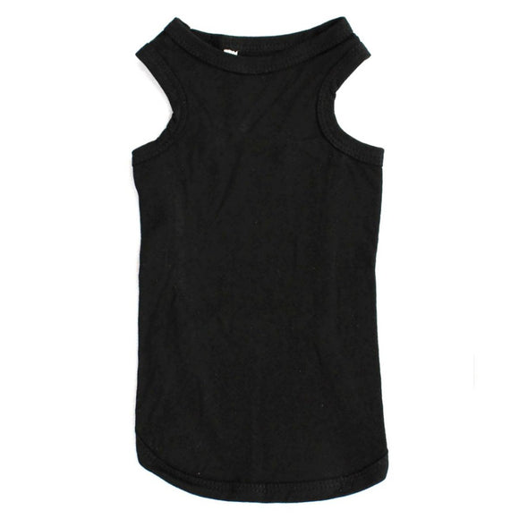 Cat Clothes Cat Vest Top - Black - Prince & Princess Designer Petwear