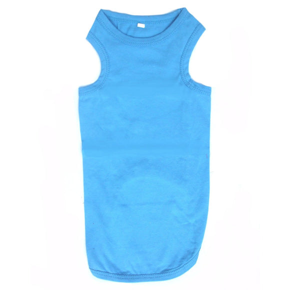 Cat Clothes Cat Vest Top - Blue - Prince & Princess Designer Petwear