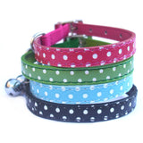 Cat Collars Polka Dot Cat Collars - Prince & Princess Designer Petwear