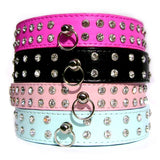 Dog Collars Double Diamante Dog Collar - Prince & Princess Designer Petwear