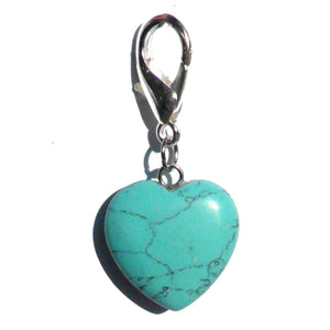 Charms Pet Gemstone Crystal Heart Charms - Prince & Princess Designer Petwear