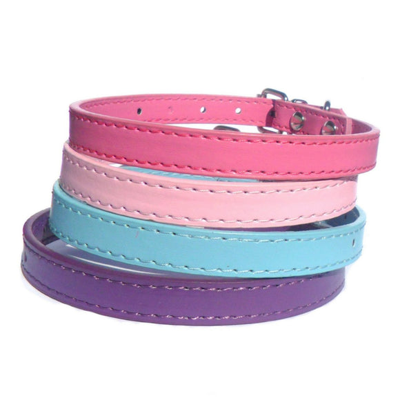 Dog Collars Kensington Plain Dog Collars - Prince & Princess Designer Petwear