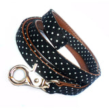Dog Leads Polka Dot Fabric Dog Leads - Prince & Princess Designer Petwear