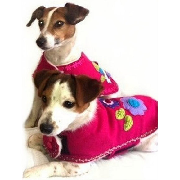Dog Clothes Flower Power Coat by Prediletto - Prince & Princess Designer Petwear