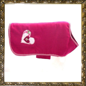 Dog Clothes Fuchsia Heart Coat by Prediletto - Prince & Princess Designer Petwear