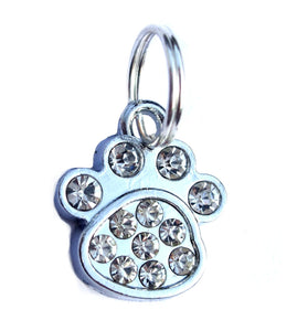 Small Rhinestone Paw Pet Charm