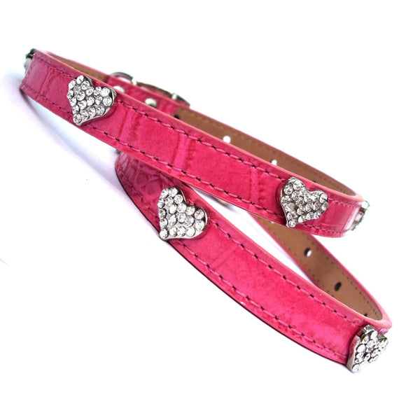 Dog Collars Sweet Hearts Croc Collar - Prince & Princess Designer Petwear