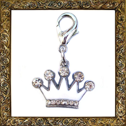 White Crown Pet Charm