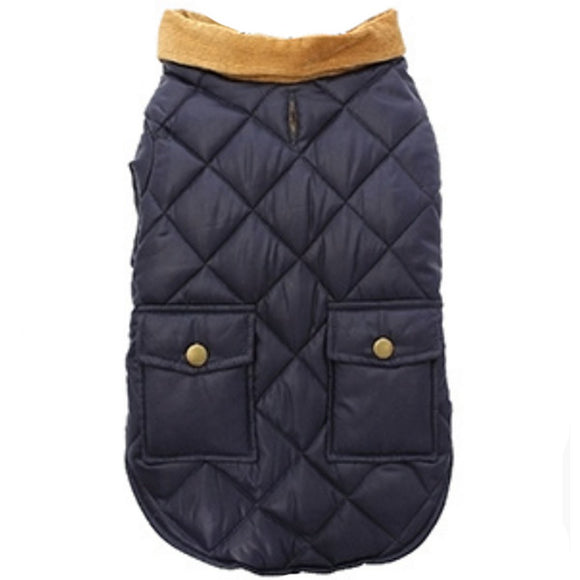 Balmoral Quilted Dog Coat - Blue