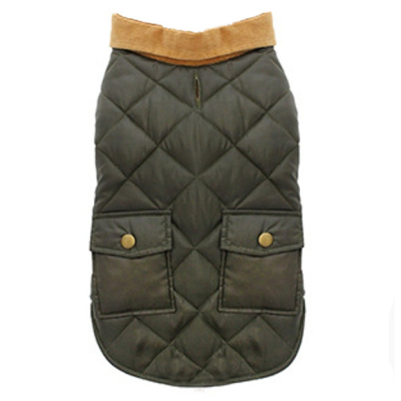 Balmoral Quilted Dog Coat - Green