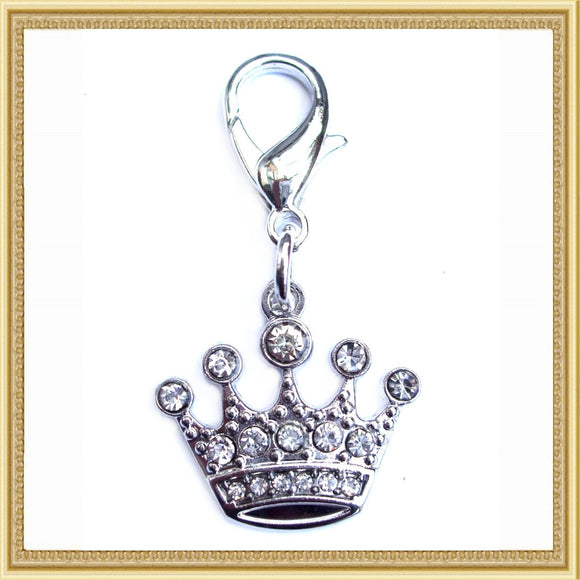 Charms Crystal Crown Pet Charm - Prince & Princess Designer Petwear