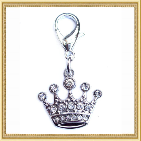Crystal Crown Pet Charm