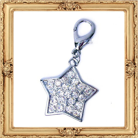 Crystal Encrusted Star Charm
