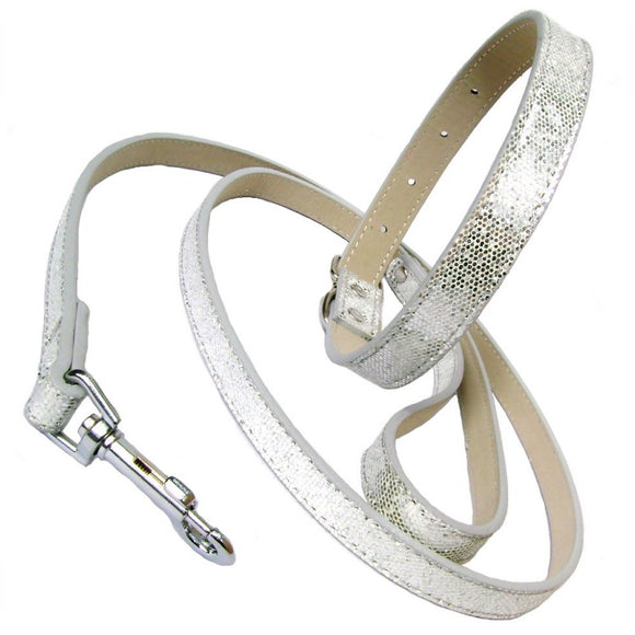Dog Collar & Lead Sets Silver Disco Fever Dog Collar & Lead Set - Prince & Princess Designer Petwear