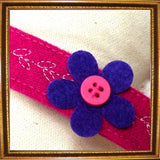 Dog Collars Pretty Flower Fuchsia Collar by Prediletto - Prince & Princess Designer Petwear
