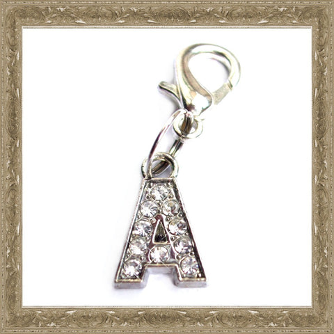 A-Z Crystal Letter Pet Charms