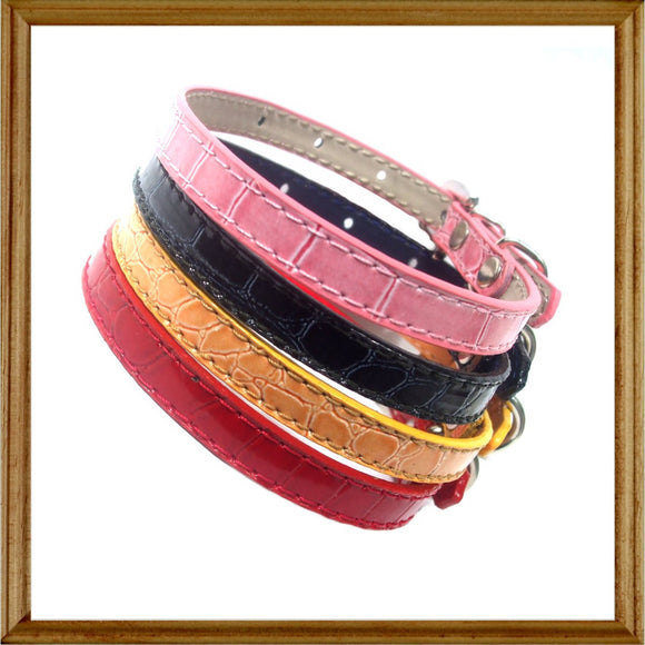 Dog Collars Paris Mock Croc Collar - Prince & Princess Designer Petwear