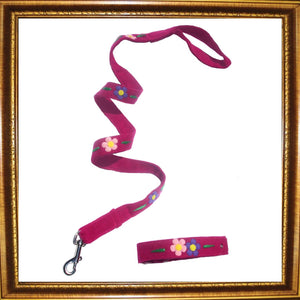 Dog Collar & Lead Sets Flower Power Dog Collar & Lead by Prediletto - Prince & Princess Designer Petwear