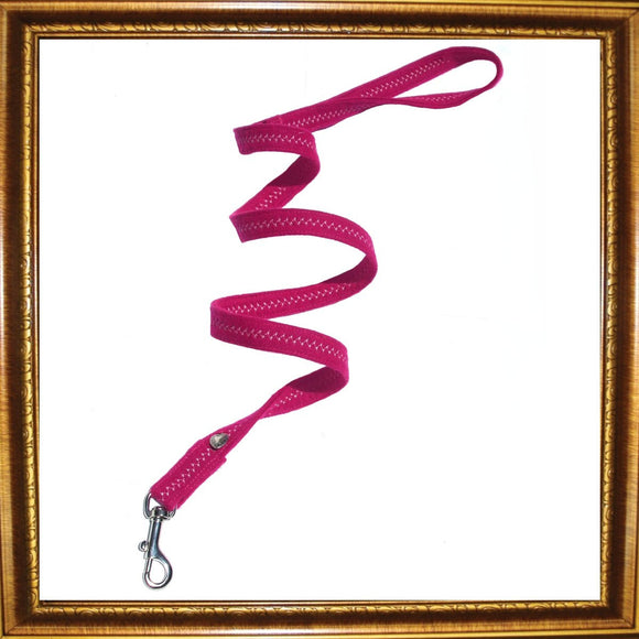 Dog Leads Fuchsia Heart Dog Lead by Prediletto - Prince & Princess Designer Petwear