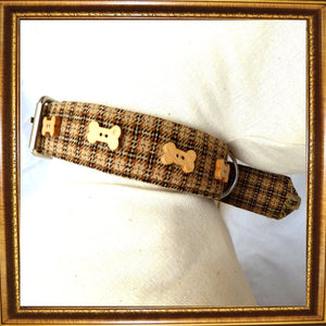 Dog Collars Tweed Dog Collar by Prediletto - Prince & Princess Designer Petwear